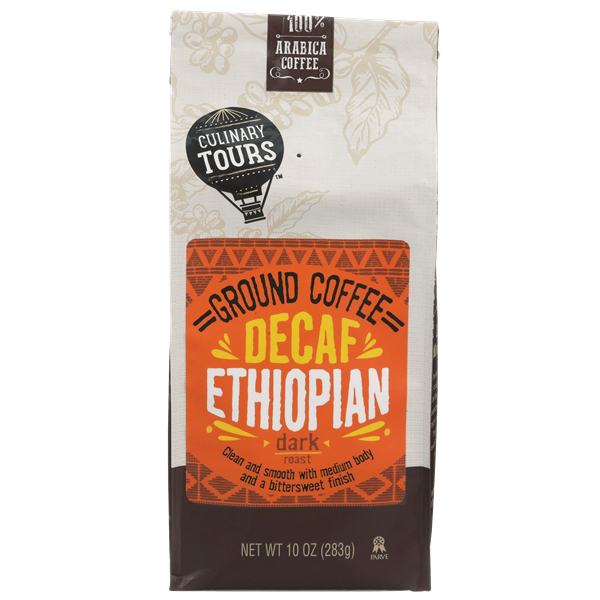 Culinary Tours Decaf Ethiopian Ground Coffee