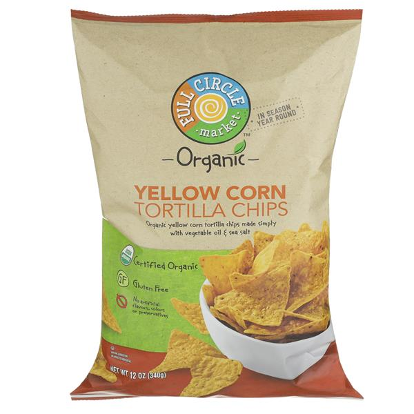 Full Circle Organic Yellow Corn Tortilla Chips