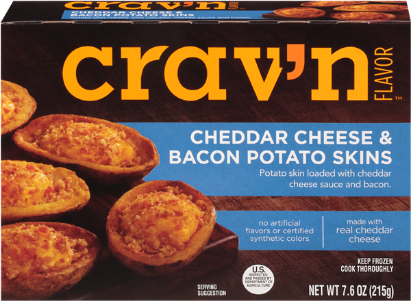 Crav'N Flavor Cheddar Cheese & Bacon Potato Skins
