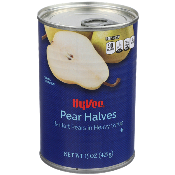 Hy-Vee Bartlett Pear Halves In Heavy Syrup