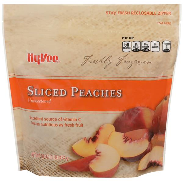 Hy-Vee Sliced Peaches Unsweetened
