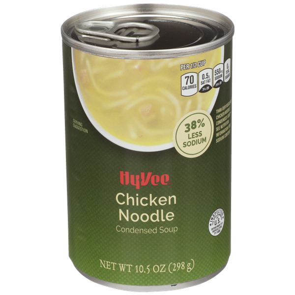 Hy-Vee 38% Less Sodium Chicken Noodle Condensed Soup