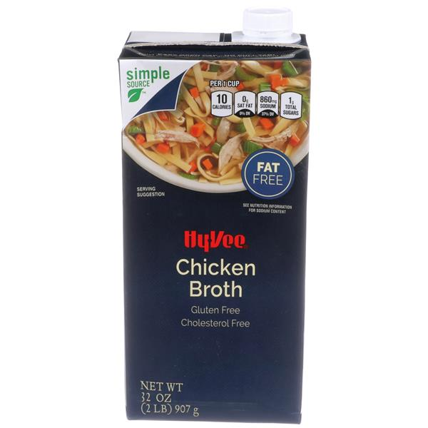 Hy-Vee Chicken Broth Fat Free Gluten Free