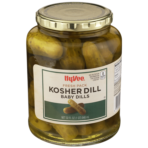 Hy-Vee Kosher Baby Dill Pickles