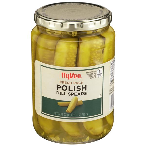 Hy-Vee Polish Dill Pickle Spears