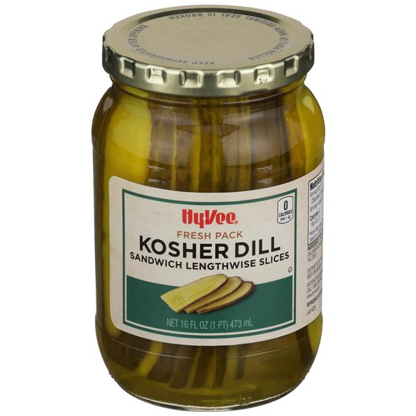 Hy-Vee Kosher Dill Sandwich Pickles