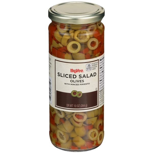 Hy-Vee Olives Sliced Salad With Minced Pimiento