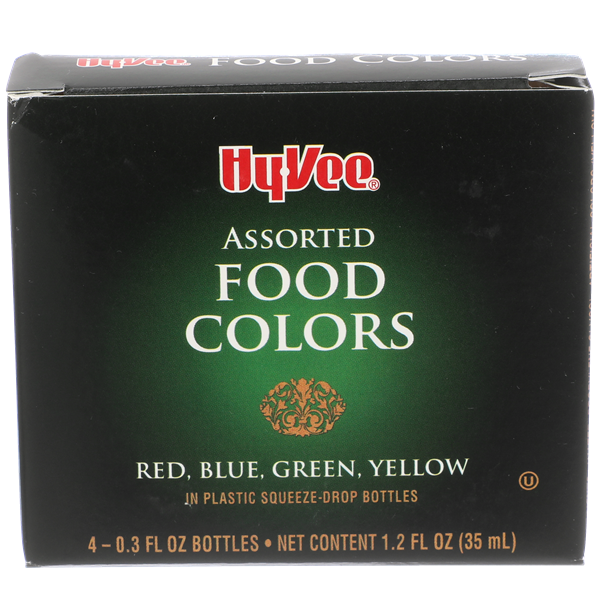 Hy-Vee Assorted Food Colors 4-0.3 fl oz Bottles