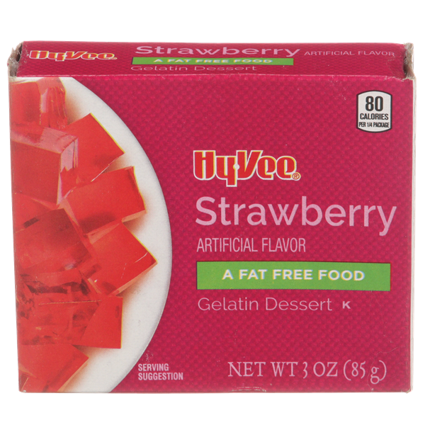 Hy-Vee Strawberry Gelatin Dessert