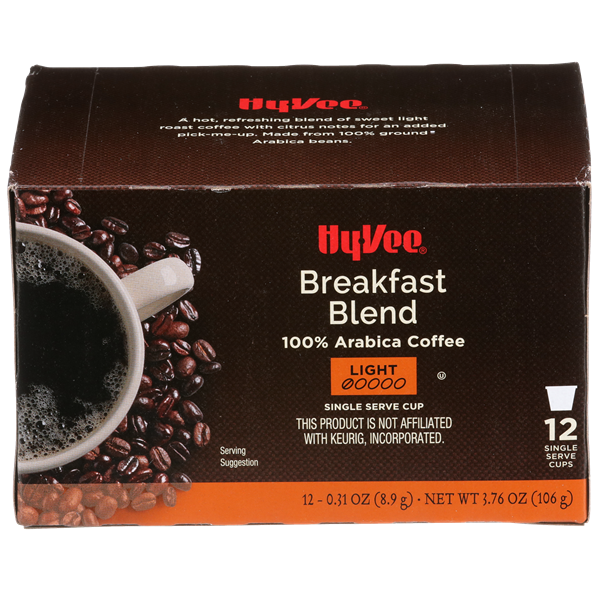 Hy-Vee Breakfast Blend Single Serve Cup Coffee 12-0.31 oz