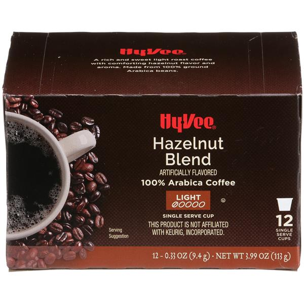 Hy-Vee Hazelnut Blend Single Serve Cup Coffee 12-.33 oz ea.