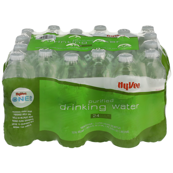 Hy-Vee One Step Purified Drinking Water 24 Pack