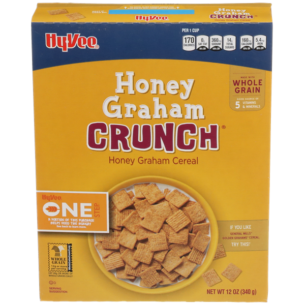 Hy-Vee One Step Honey Graham Crunch Cereal