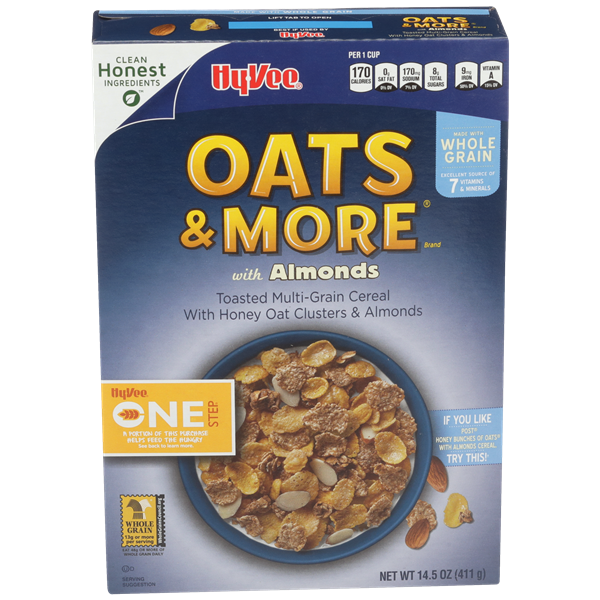 Hy-Vee One Step Oats & More with Almonds Cereal