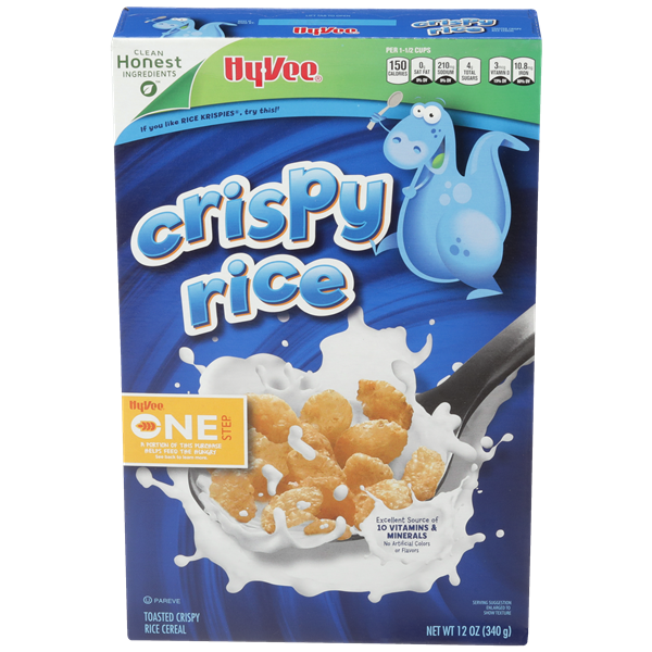 Hy-Vee One Step Crispy Rice Cereal
