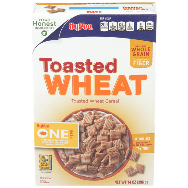 Hy-Vee One Step Toasted Wheat Squares Cereal