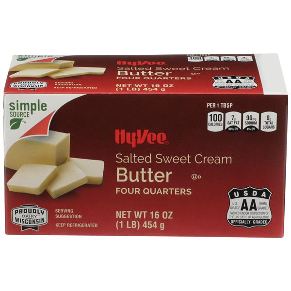 Hy-Vee Sweet Cream Salted Butter Quarters