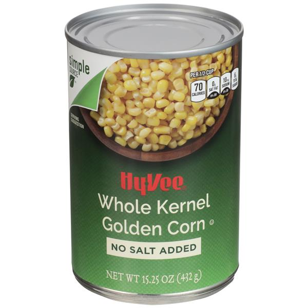 Hy-Vee Whole Kernel Golden Corn No Salt Added