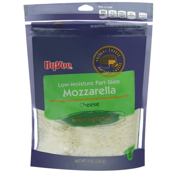 Hy-Vee Finely Shredded Low-Moisture Part-Skim Mozzarella Cheese