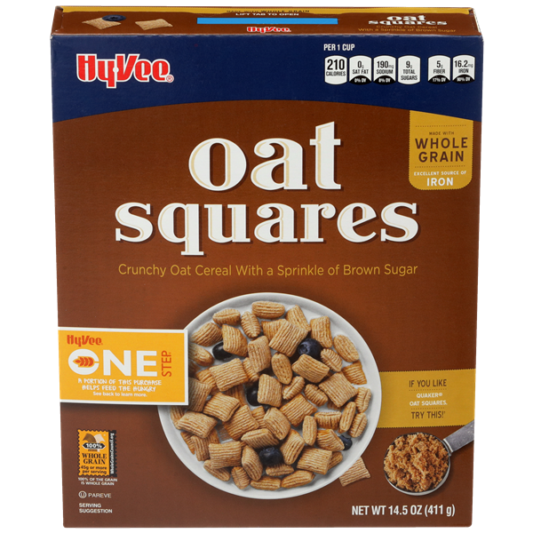 Hy-Vee One Step Oat Squares Cereal