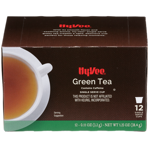 Hy-Vee Green Tea Single Serve Cups