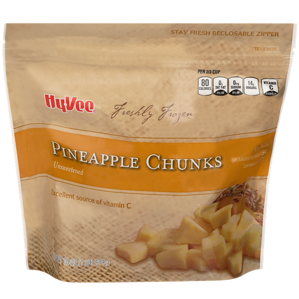 Hy-Vee Unsweetened Pineapple Chunks