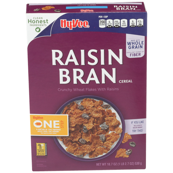 Hy-Vee One Step Raisin Bran Cereal