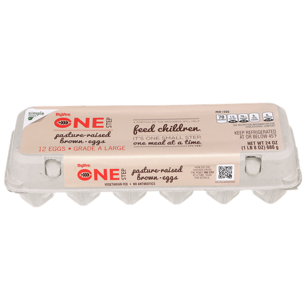 Hy-Vee One Step Pasture Raised Large Brown Eggs