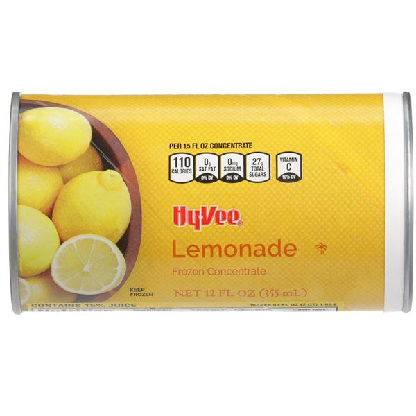 Hy-Vee Lemonade Juice Drink Frozen Concentrate