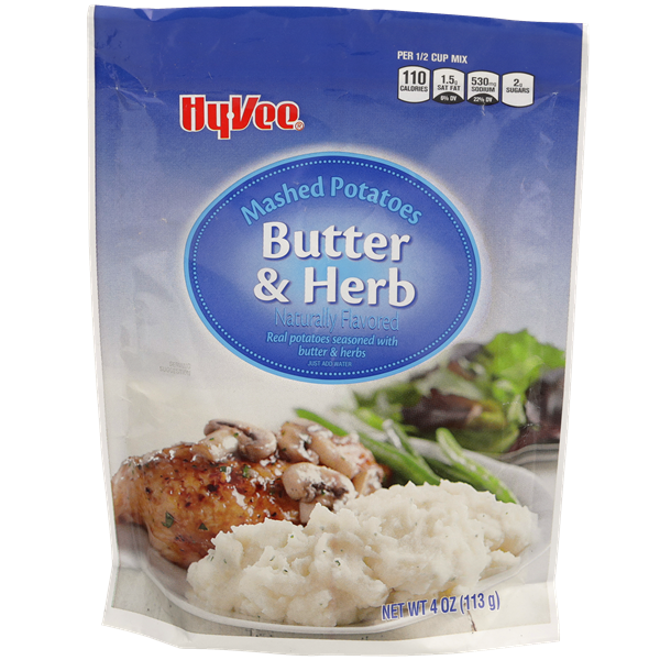 Hy-Vee Mashed Potatoes Butter & Herb Flavor