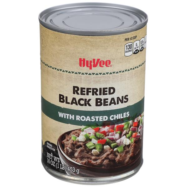 Hy-Vee Refried Black Beans with Roasted Chiles