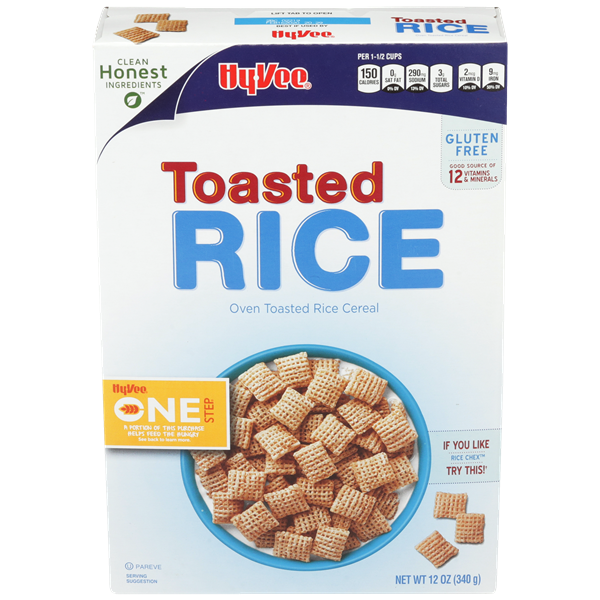 Hy-Vee One Step Toasted Rice Cereal