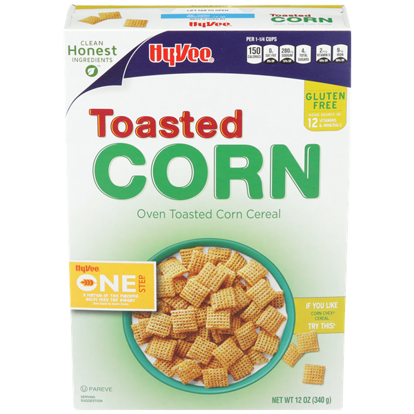 Hy-Vee One Step Toasted Corn Cereal