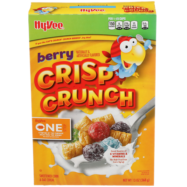 Hy-Vee One Step Berry Crisp Crunch Cereal