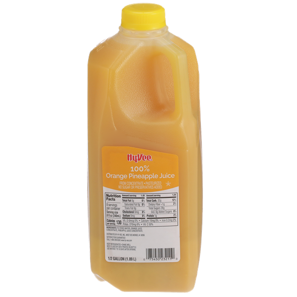 Hy-Vee 100% Orange Pineapple Juice