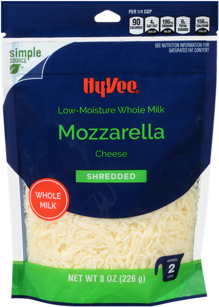 Hy-Vee Mozzarella Low-Moisture Whole Milk Shredded Cheese