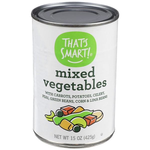 That's Smart! Mixed Vegetables With Carrots, Potatoes, Peas, Corn, Green Beans, Celery & Lima Beans